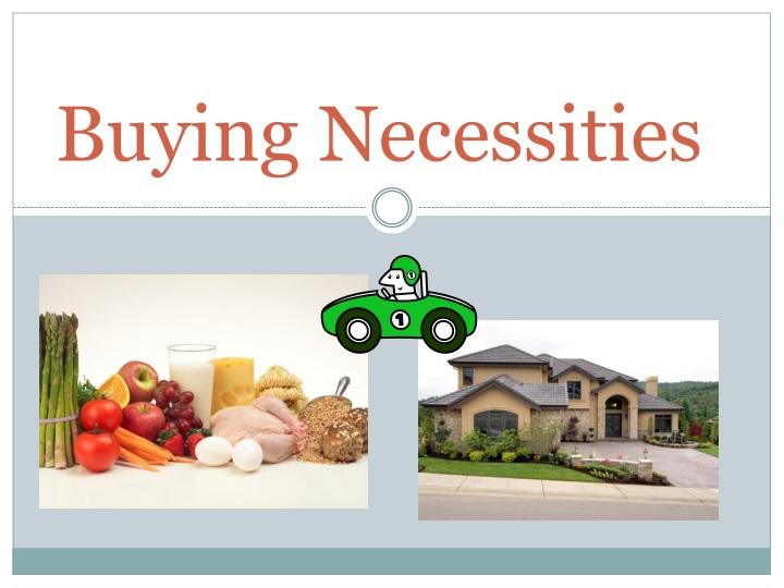 buying necessities n.