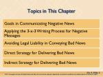 topics in this chapter
