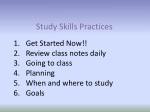 study skills practices