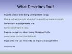 what describes you