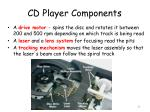 cd player components