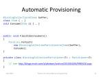 automatic provisioning