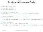producer consumer code