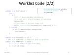worklist code 2 2