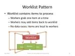 worklist pattern