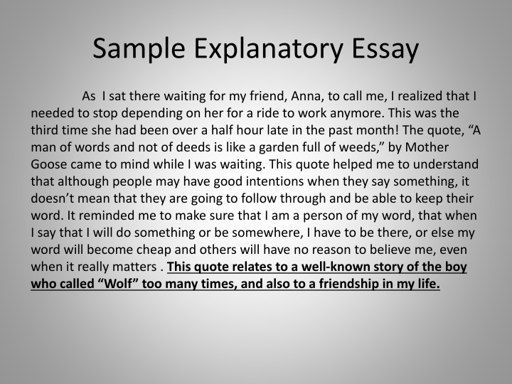 How to write a explanatory essay