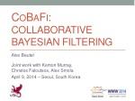 cobafi collaborative bayesian filtering