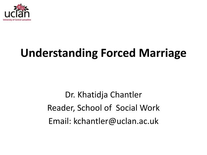 understanding forced marriage n.