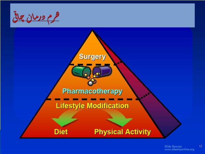 هرم درمان چاقی