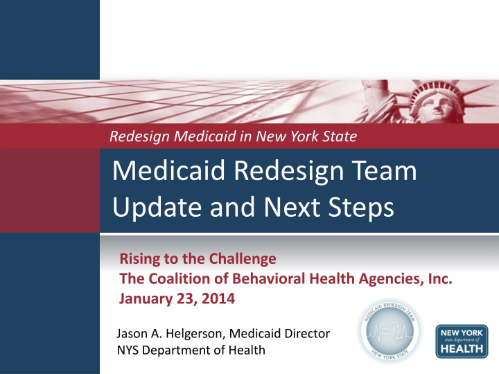 Medicaid redesign team update and next steps