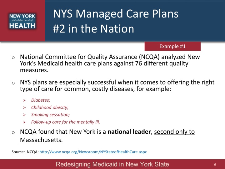 NYS Managed Care Plans