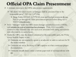 official opa claim presentment