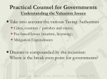 practical counsel for gov ernmen t s understanding the valuation issues