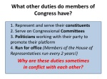 what other duties do members of congress have