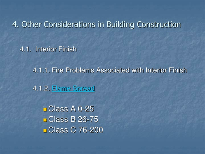 4. Other Considerations in Building Construction