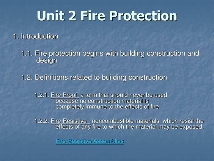 Unit 2 fire protection