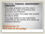 feature no 2 the role of the judge
