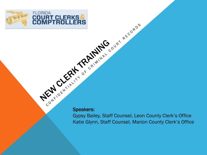 new clerk training n.