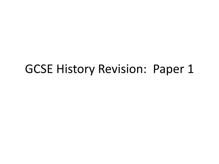 gcse history revision paper 1 n.