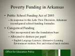 poverty funding in arkansas