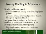 poverty funding in minnesota