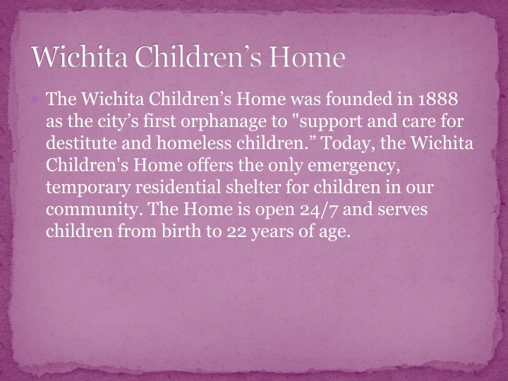 Wichita children s home