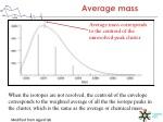 average mass