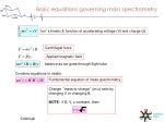 basic equations governing mass spectrometry