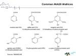 common maldi matrices