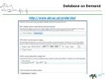 database on demand