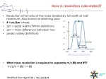 how is resolution calculated