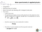 mass spectrometry is applied physics