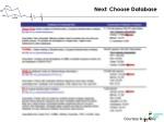 next choose database