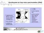 quadropole ion trap mass spectrometers itms