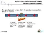 triple quadrupole instruments are best for quantitation of peptides