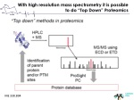 with high resolution mass spectrometry it is possible to do top down proteomics