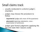 small claims track