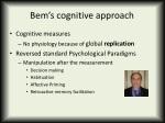 bem s cognitive approach