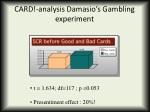 card analysis damasio s gambling experiment