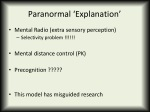 paranormal explanation