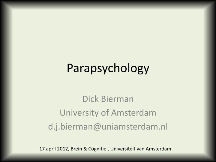 parapsychology n.