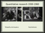 quantitative research 1930 1960