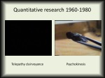 quantitative research 1960 1980