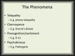 the phenomena
