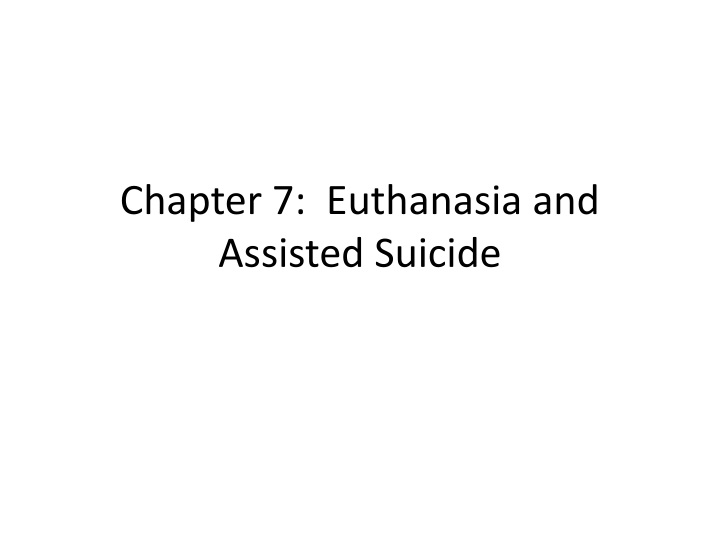 ethical perspective on assisted suicide Social and cultural gender roles and the impact of doctor-assisted suicide for ethical understanding suicide was in perspective, a definition of suicide can.