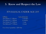3 know and respect the law