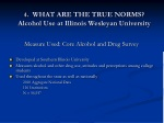 4 what are the true norms alcohol use at illinois wesleyan university