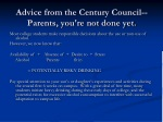 advice from the century council parents you re not done yet