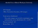 alcohol use at illinois wesleyan university