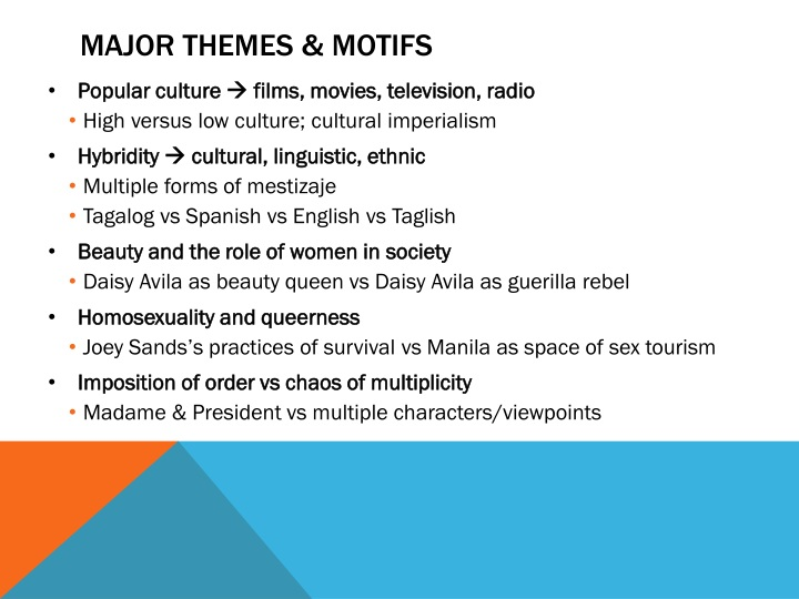Major themes & motifs